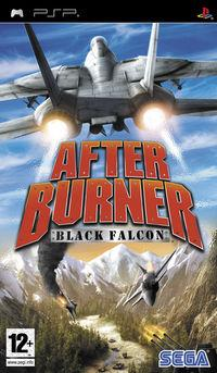 Portada oficial de After Burner: Black Falcon para PSP