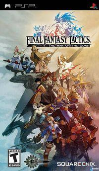 Portada oficial de Final Fantasy Tactics: The War of the Lions para PSP