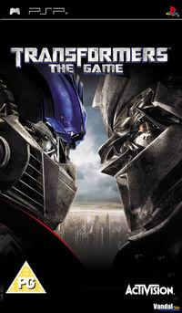 Portada oficial de Transformers: The Game para PSP