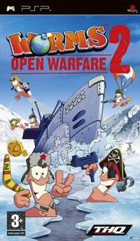 Portada oficial de Worms Open Warfare 2 para PSP