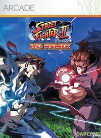 Portada oficial de Super Street Fighter II Turbo HD Remix XBLA para Xbox 360