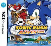 Portada oficial de Sonic Rush Adventure para NDS