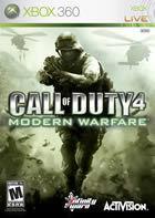 Portada oficial de Call of Duty 4: Modern Warfare para Xbox 360