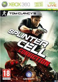 Portada oficial de Splinter Cell: Conviction para Xbox 360