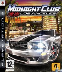 Portada oficial de Midnight Club: Los Angeles para PS3