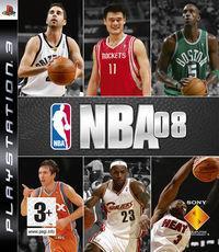 Portada oficial de NBA 08 para PS3