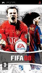 Portada oficial de FIFA 08 para PSP