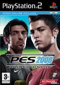 Portada oficial de Pro Evolution Soccer 2008 para PS2