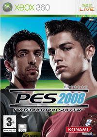 Portada oficial de Pro Evolution Soccer 2008 para Xbox 360