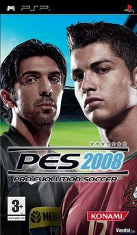 Portada oficial de Pro Evolution Soccer 2008 para PSP