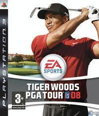 Portada oficial de Tiger Woods PGA Tour 08 para PS3