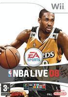 Portada oficial de NBA Live 08 para Wii