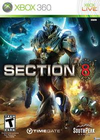 Portada oficial de Section 8 para Xbox 360