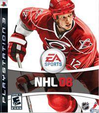 Portada oficial de NHL 08 para PS3