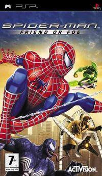Portada oficial de Spiderman: Friend or Foe para PSP