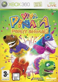 Portada oficial de Viva Piñata: Party Animals para Xbox 360