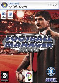 Portada oficial de Football Manager 2008 para PC