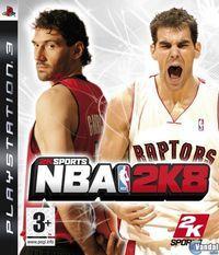 Portada oficial de NBA 2K8 para PS3