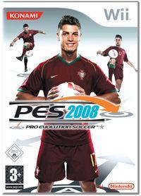 Portada oficial de Pro Evolution Soccer 2008 para Wii