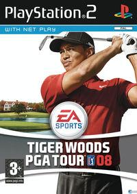 Portada oficial de Tiger Woods PGA Tour 08 para PS2