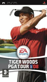 Portada oficial de Tiger Woods PGA Tour 08 para PSP
