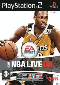 Portada oficial de NBA Live 08 para PS2