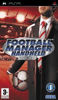 Portada oficial de Football Manager Handheld 2008 para PSP