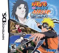 Portada oficial de Naruto Shippuden: Naruto vs. Sasuke para NDS