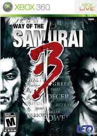 Portada oficial de Way of the Samurai 3 para Xbox 360
