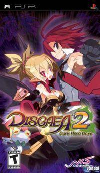 Portada oficial de Disgaea 2: Dark Hero Days para PSP