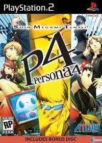 Portada oficial de Persona 4 para PS2