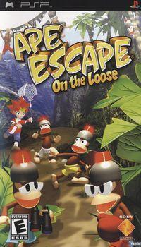 Portada oficial de Ape Quest para PSP