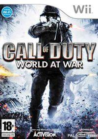 Portada oficial de Call of Duty: World at War para Wii