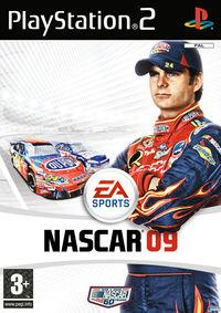 Portada oficial de NASCAR 09 para PS2