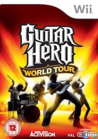 Portada oficial de Guitar Hero World Tour para Wii
