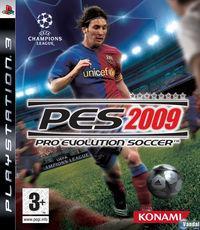 Portada oficial de Pro Evolution Soccer 2009 para PS3