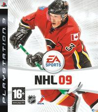 Portada oficial de NHL 09 para PS3