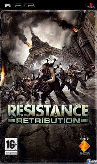Portada oficial de Resistance Retribution para PSP