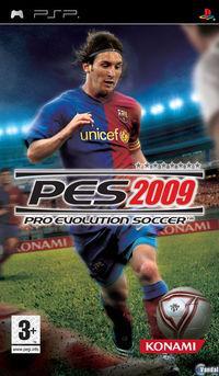 Portada oficial de Pro Evolution Soccer 2009 para PSP