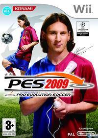 Portada oficial de Pro Evolution Soccer 2009 para Wii