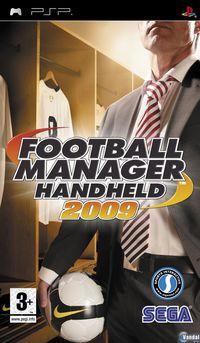 Portada oficial de Football Manager Handheld 2009 para PSP