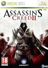 Portada oficial de Assassin's Creed 2 para Xbox 360