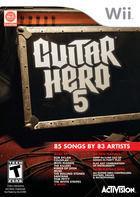 Portada oficial de Guitar Hero 5 para Wii