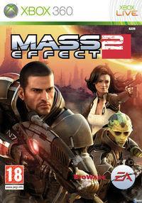Portada oficial de Mass Effect 2 para Xbox 360