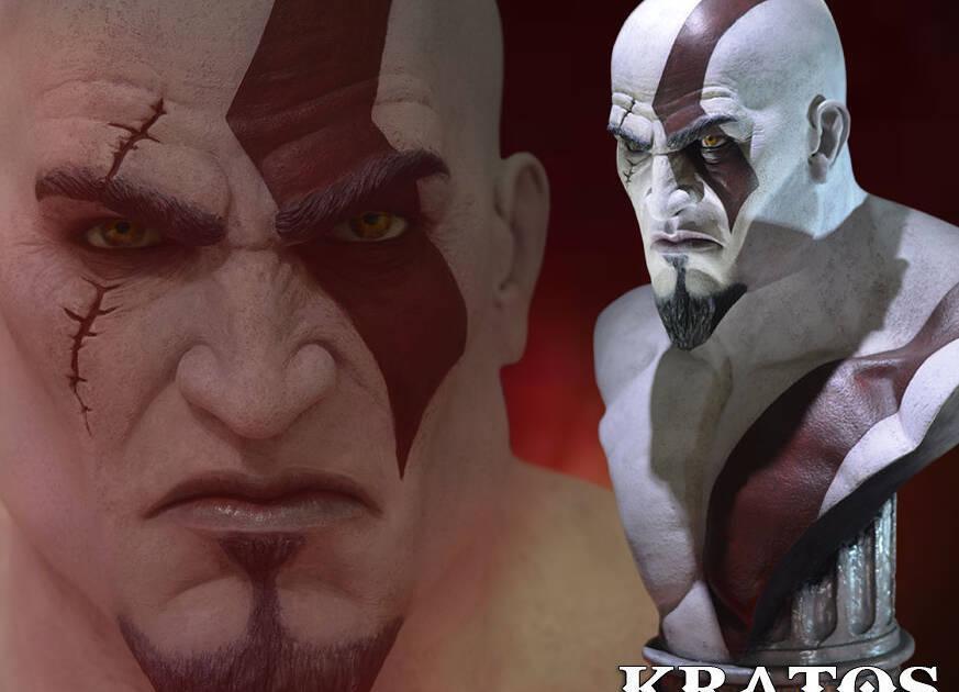 Gaming Heads anuncia un busto de Kratos de tamaño real