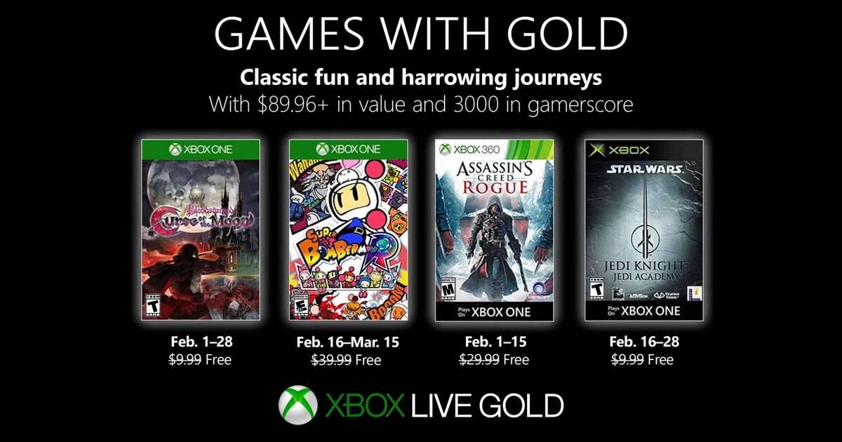 Estos son los Games with Gold de Xbox Live para febrero 2019