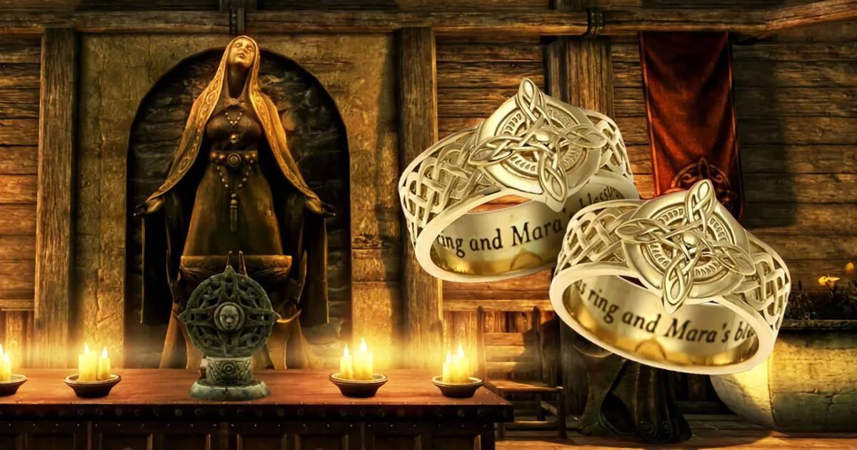 Si tú y tu pareja sois grandes fans de The Elder Scrolls, estáis planeando casaros y os sobran 1.000 dólares, quizá os interese la peculiar pieza de merchandising que Bethesda ha añadido al catálogo de su tienda americana: una...