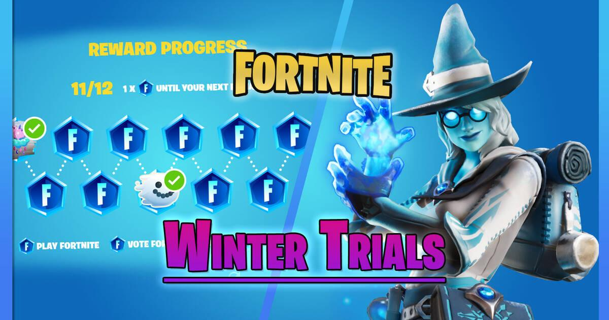 Fortnite - Winter Trial: Fechas y recompensas gratuitas por ganar insignias