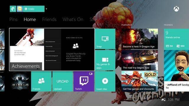 Detallada la actualización de Xbox One de noviembre