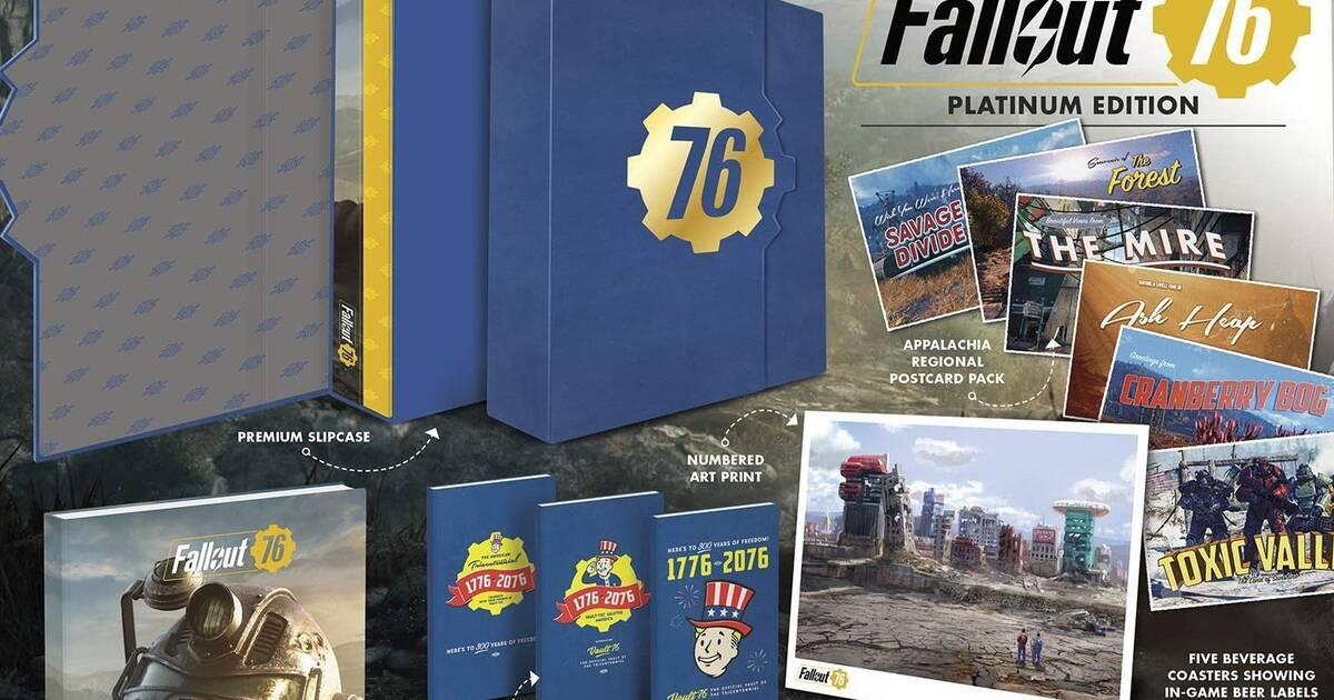 Fallout 76 presenta la edición Platinum de su guía de juego